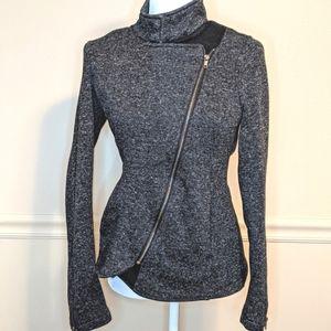 Fabletics Calypso Asymmetrical Knitted Jacket Sz M